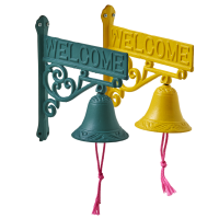 Welcome Door Sign With Bell By Rice